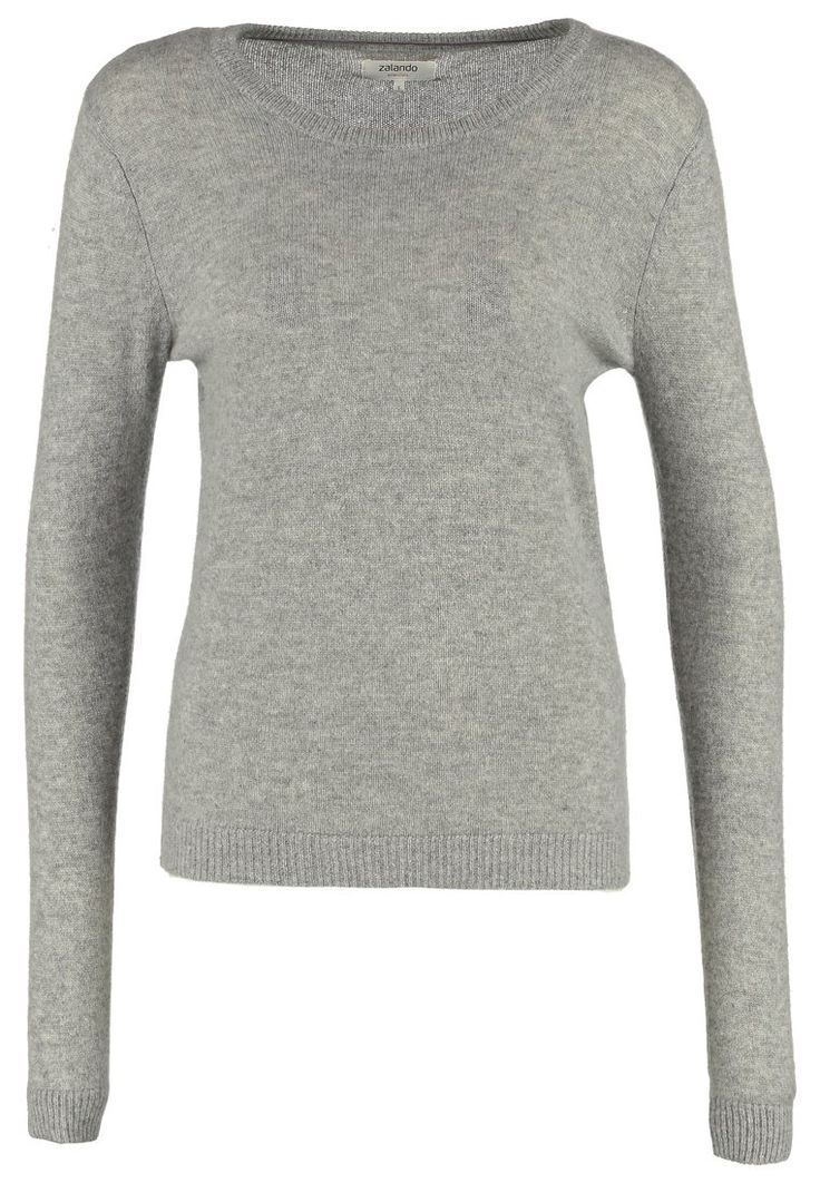 Zalando Essentials KASCHMIRPULLOVER - Stickad tröja - light grey melange - Zalando.se