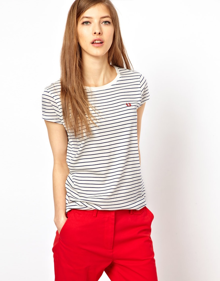 Fred Perry Classic Striped T-Shirt. Love stripes and nautical looks for spring!