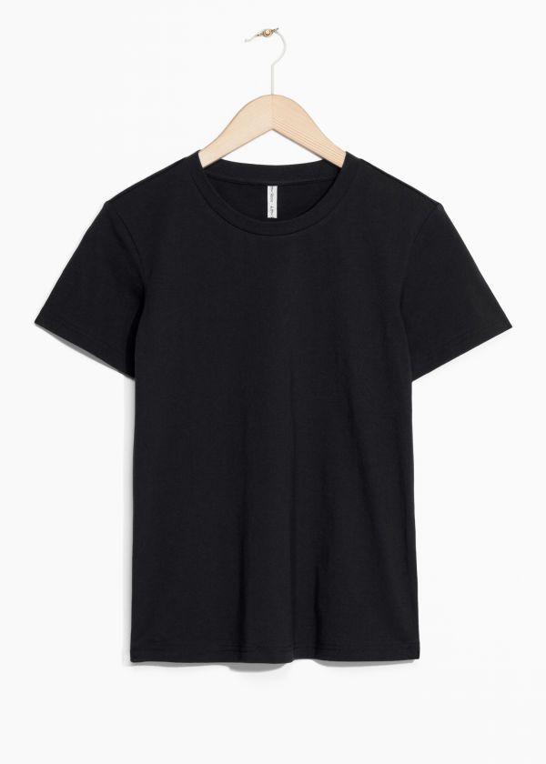 e5f2ea9b167 Crewneck Organic Cotton Tee - White - Tops   T-shirts -   Other Stories GB