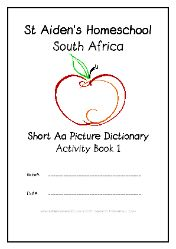 Short A - - Alphabet Picture Dictionary Workbooks/Activity Books, Freebies, download one or download all #Homeschool #education