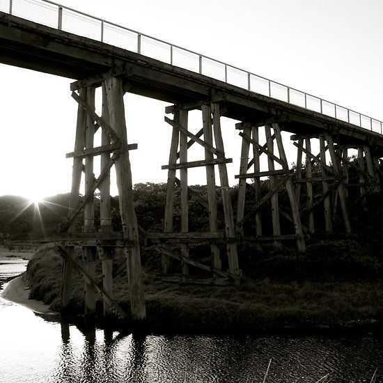 Bridge #5 Photograph by Clancefncypants. Old Kilcunda train bridge by sunset. Kilcunda, Vic, Australia.