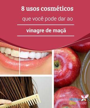 8 usos #cosméticos que você pode dar ao vinagre de #maçã  Apesar do #vinagre ser um #remédio muito eficaz para aliviar diferentes problemas, em sua aplicação tópica o misturaremos em água para não irritar a #pele excessivamente.