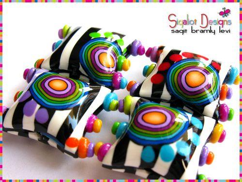 """Funky Zebra"" Pillow beads"