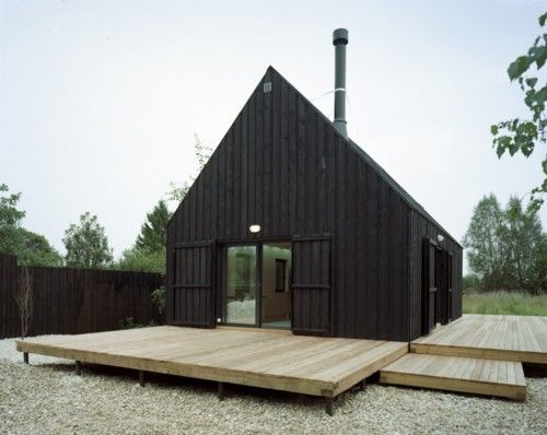 This is beautiful :): Black House, Cabins Decks, Modern Building, The Weekend, Modern Architecture, Design, Bureau, Barns House, Wood Doors