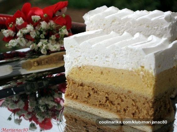 Kremasta tortica, sa puno čokolade, kod nas obavezna za sve proslave, i uvjek se traži recept za nju :) Jedna od omiljenih...
