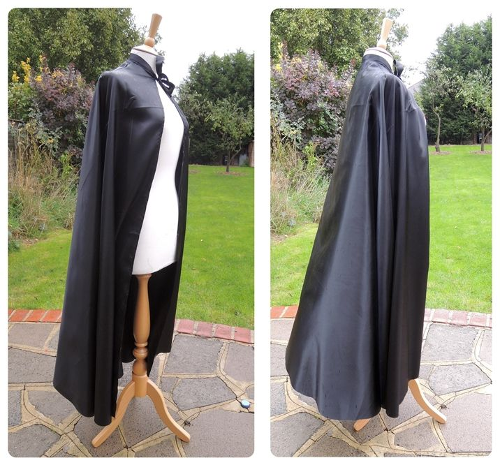 easy make satin dracula cape