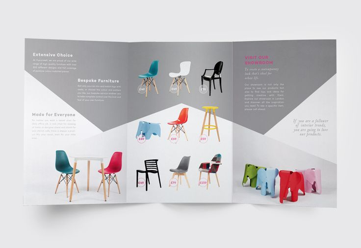 Leaflet Design for FUSIONWELL-London based furniture company