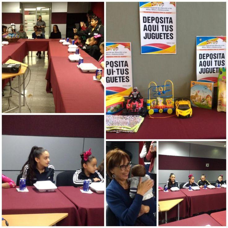 Recibe Blanca Gámez a niñas de escuela de gimnasia Krastev Mitova; llevaron apoyos para niños afectados por el sismo   El Puntero
