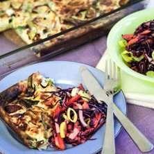 Billig mat: Ugnspannkaka med purjolök och fetaost
