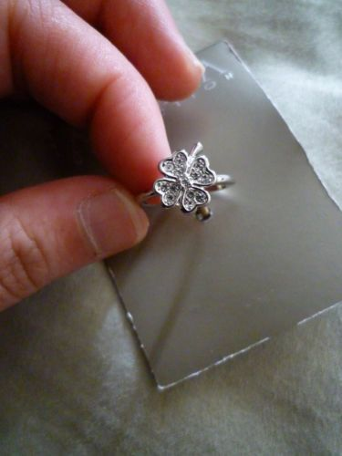 leaf clover products green snowflake elegant anel women dodosoo sterling authentic silver finger for sparkling jewelry grande ring four rings radiant