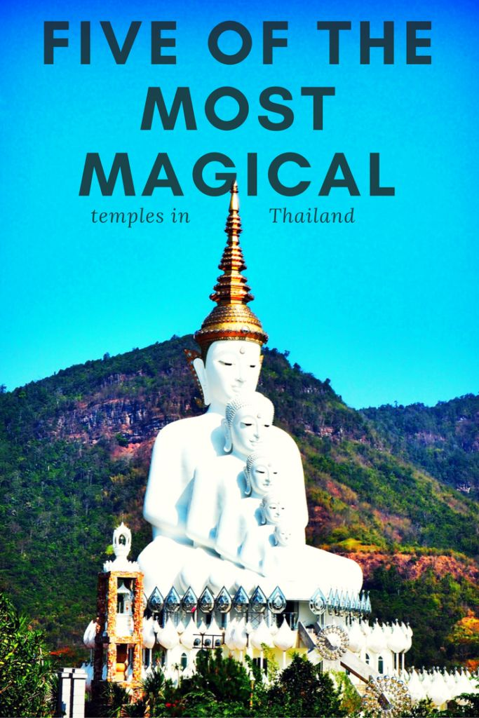 Five of the most magical temples in Thailand.