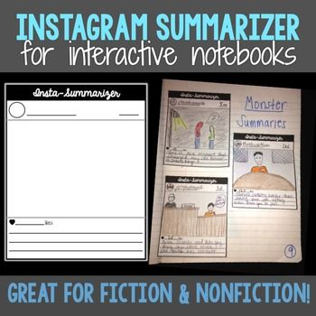This is a fun summarizing activity that is great for interactive notebooks.