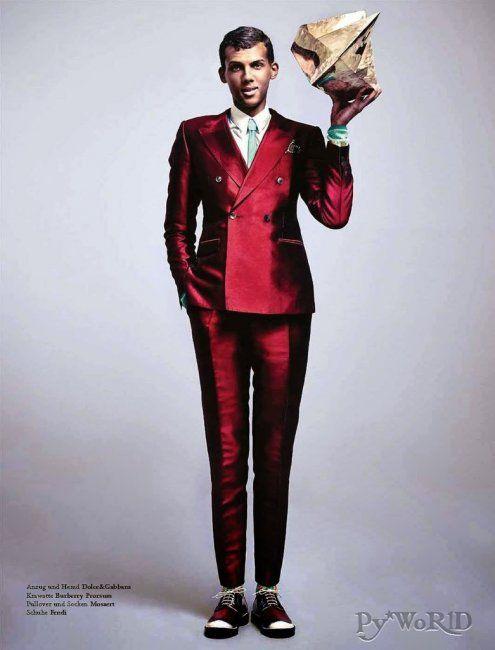 Stromae dans le magazine « L'Officiel Hommes » allemand