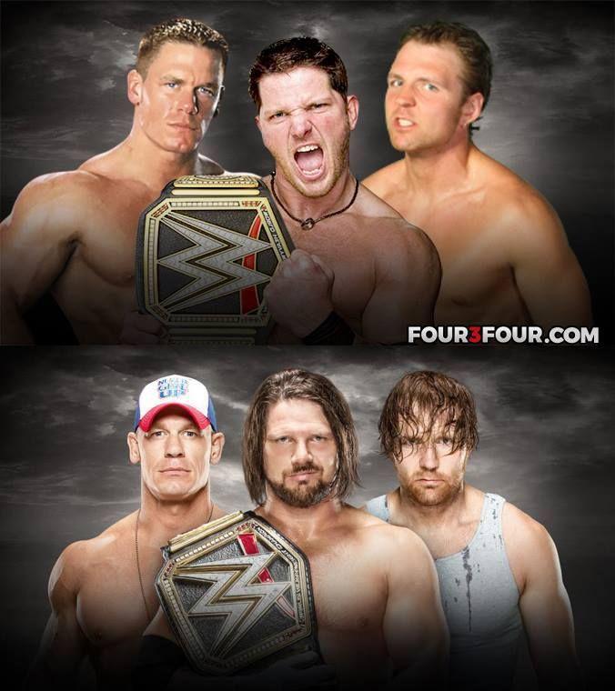 Antes y Ahora: John Cena vs. AJ Styles vs. Dean Ambrose en WWE No Mercy 2016 / Four3Four.com