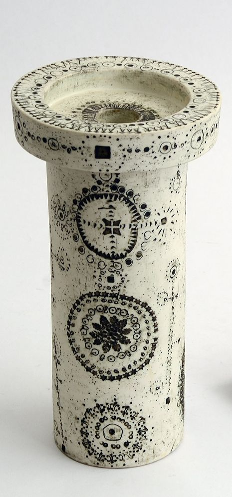 Rut Bryk; Glazed Ceramic Candle Holder for Arabia, 1960s.