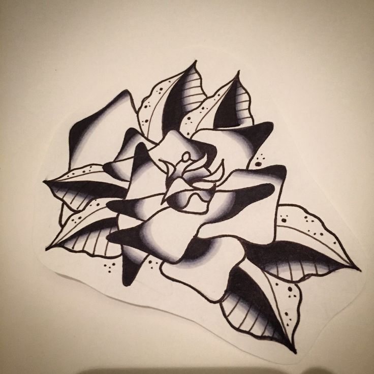 Neo trad rose