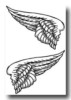 Wooden angel wings wall decor ukc