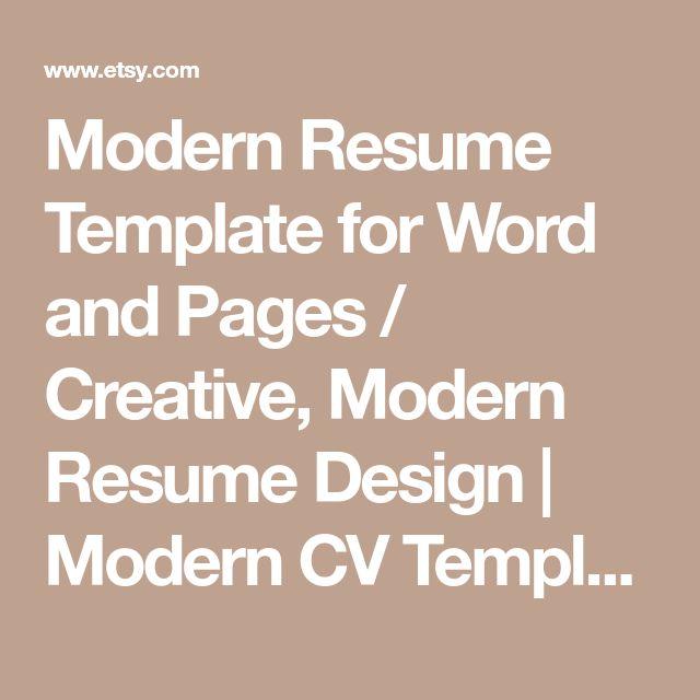 Best  Modern Resume Template Ideas On   Modern Resume
