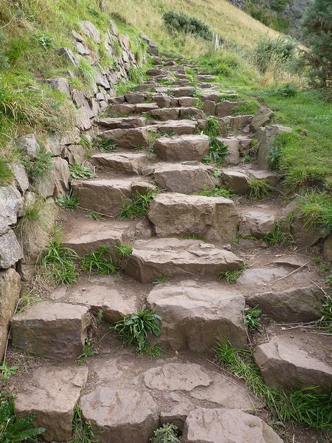 Steps to Arthur's Seat; Edinburgh, Scotland --photo by JamesMcAulay via flickr