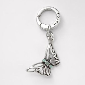 Fossil Whimsical Butterfly Charm