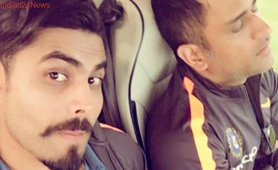 Ravindra Jadeja takes a rare photo of MS Dhoni and is happy about it, see pic