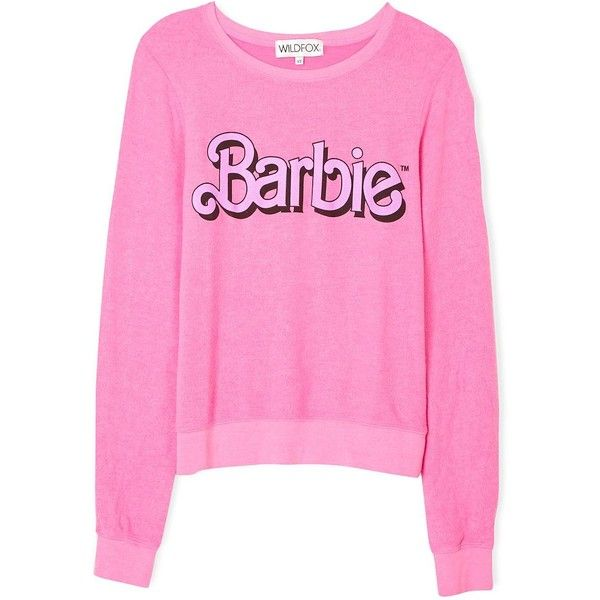 Wildfox Barbie My Resume Long Sleeve Sweatshirt found on Polyvore