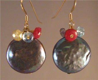 Occhini con pietra dure Cluster orecchini pendenti di jjewelsatl