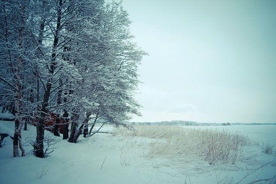 "Finland photography, Helsinki, Baltic sea, Landscape art print, Nordic poster, Christmas feeling, Scandinavia, 12"" x 8"", 30 cm x 20 cm"