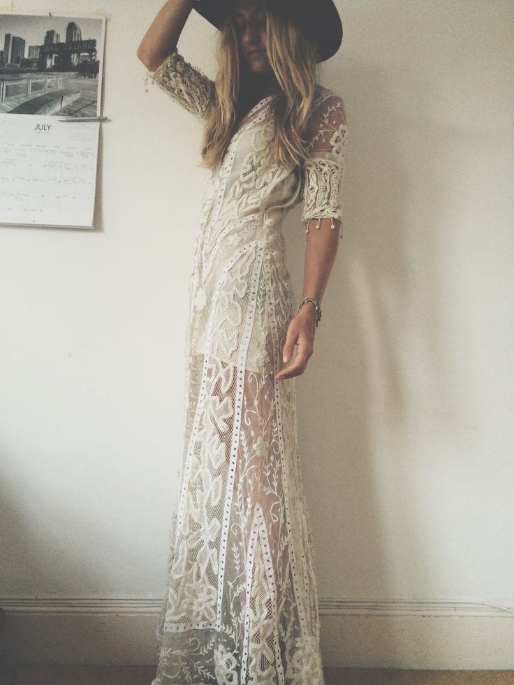My perfect crochet dress. | More outfits like this on the Stylekick app! Download at http://app.stylekick.com