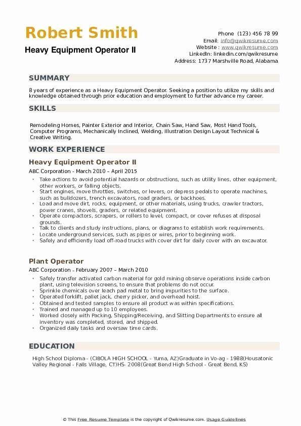 Heavy Equipment Operator Resume Sample Lovely Heavy Equipment Operator Resume Samples Medical Assistant Resume Teacher Assistant Jobs Job Resume Examples