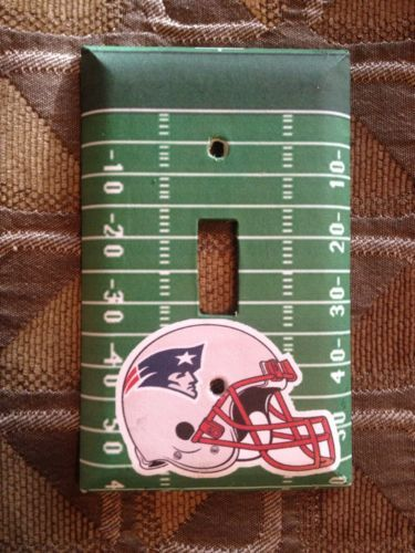 Great Patriots Gift!! New England Patriots Football Field Light Switch Cover