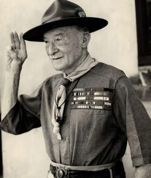 Robert Baden-Powell, founder of the Boy Scouts, died 8 January 1941