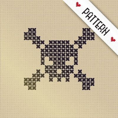 Cross Stitch Skull and Crossbones – Chart ❥ 4U // hf | DIY Fascination