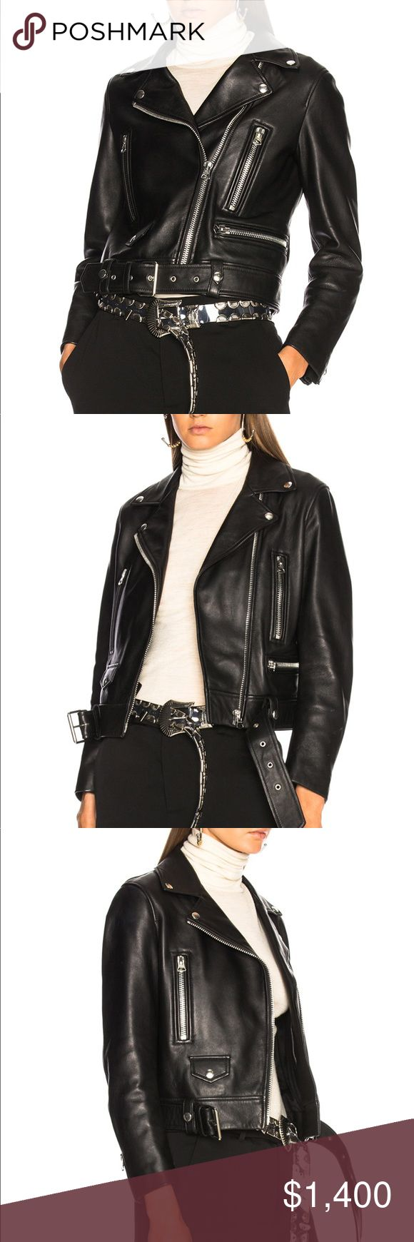 Acne studios leather jacket 38 Size 38 Acne Jackets