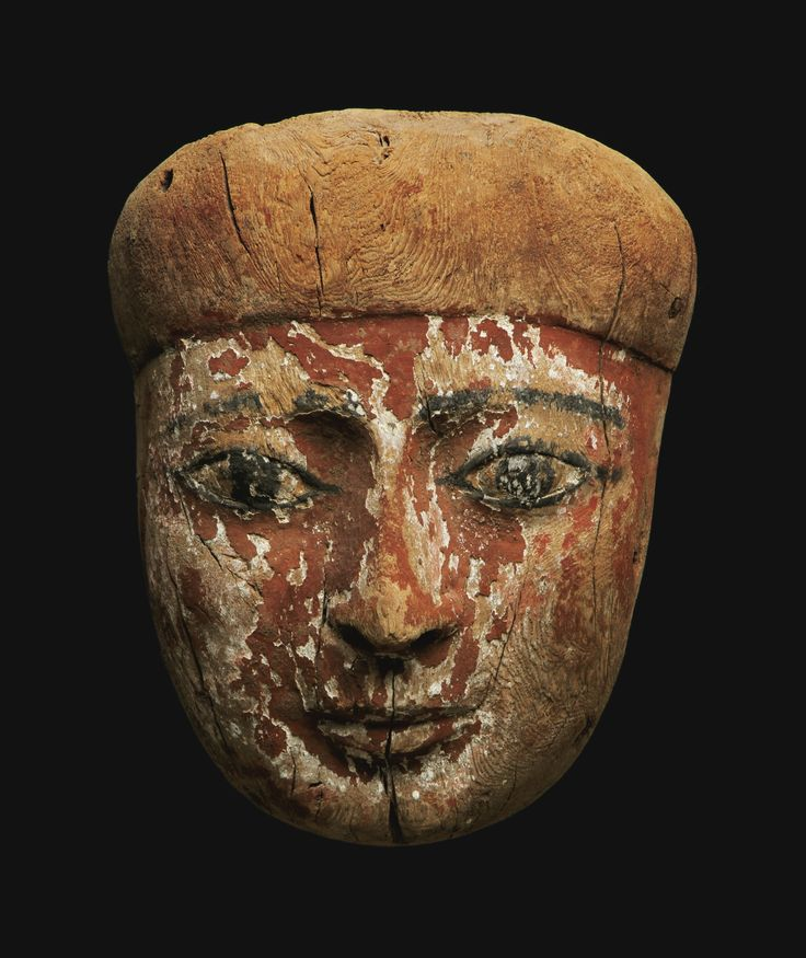 An Egyptian Wood Mummy Mask, Late Period, 716-30 B.C. | lot | Sotheby's: