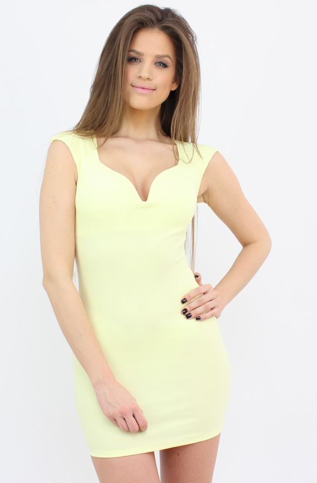 Yellow Bodycon Mini Dress to show some love for bright and summerish shades...:)  #dress #style #fashion #party #shopping