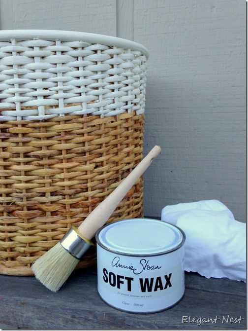 Annie Sloan Chalk Paint in Old White: How to Paint a Basket...