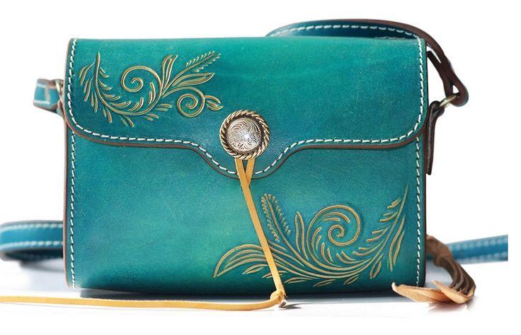 Flying Birds Free shipping Genuine leather small fresh national trend classic handmade messenger shoulder bag SH071 $72.35