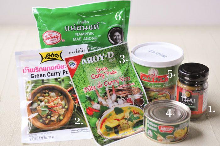 Thai Test Kitchen: Which brand of curry paste is best? - Rachel Cooks Thai