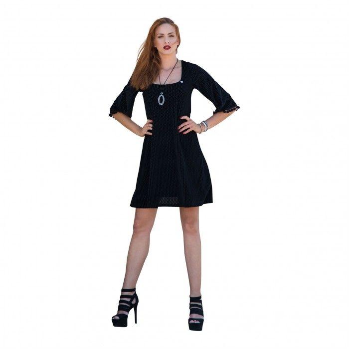 Φόρεμα βελούδο καρό μάξι με άνοιγμα στο μπούστο | (90%POL 10%SP)
