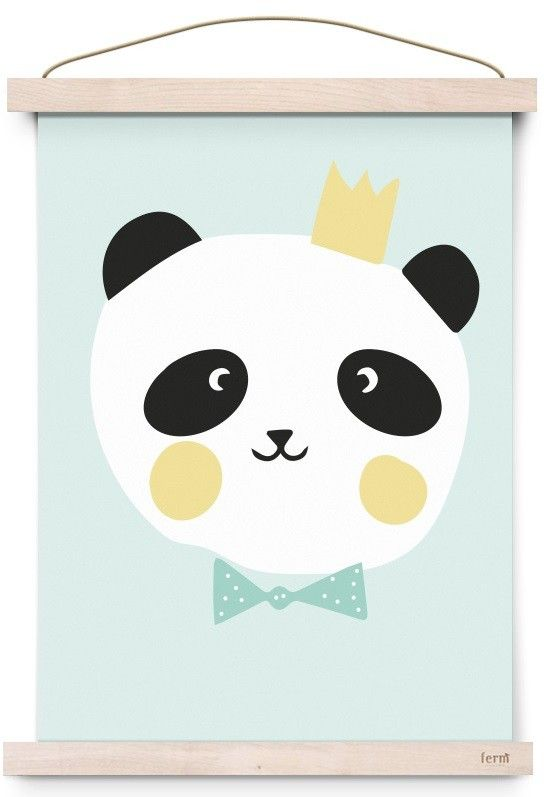Eef Lillemor poster king panda 29.7 x 42 cm