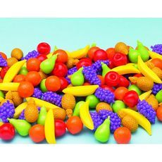 A bumper pack of 140 assorted fun fruit counters, ideal for counting and pattern-making in Y1. Supplied in a handy storage tub.Curriculum Link: Arrange combinations of objects in patterns and sequences (Y1) Count the number of objects in each category (Y1)
