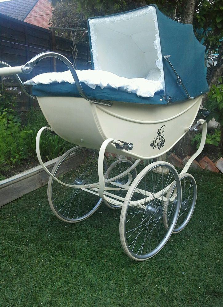 Osnath coach built pram 1960s restored with bedding in Baby, Pushchairs, Prams & Accs., Pushchairs & Prams | eBay