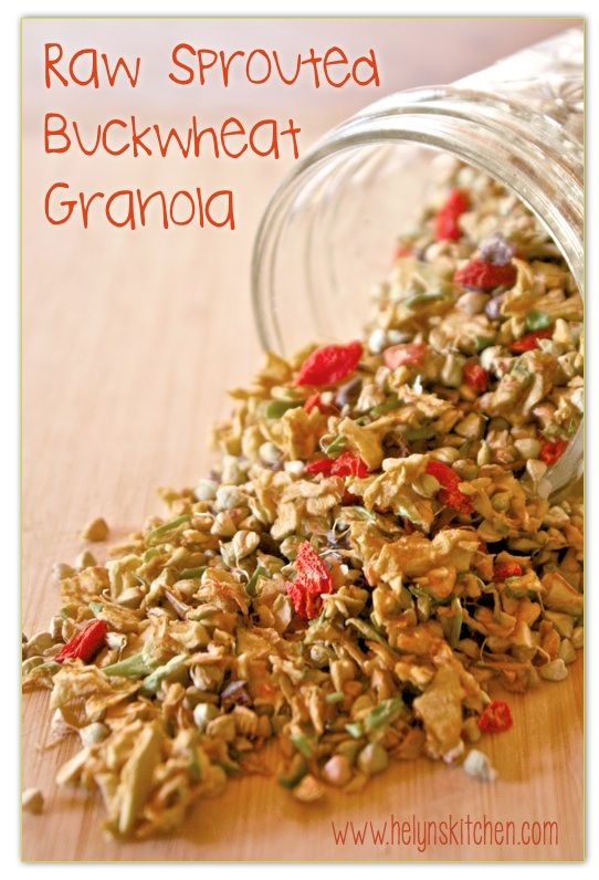 Helyn's Healthy Kitchen: Raw Sprouted Buckwheat Granola + What is True Hunger?