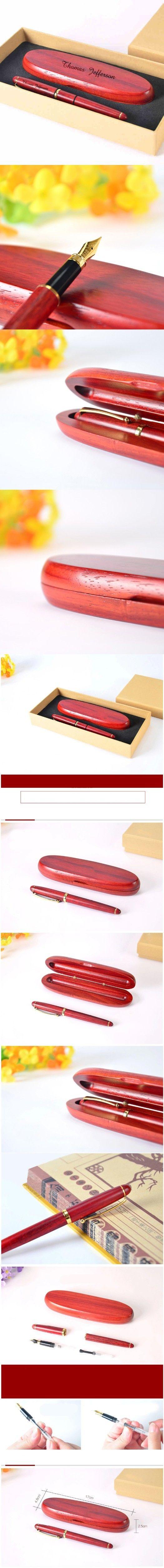 Personnalisé lettrage à la main séquoia stylo plume ensemble personnalisé gravé cadeau pour petit ami créative artisanat de noël cadeau dans Stylo-plumes de Fournitures de bureau et scolaire sur AliExpress.com | Alibaba Group
