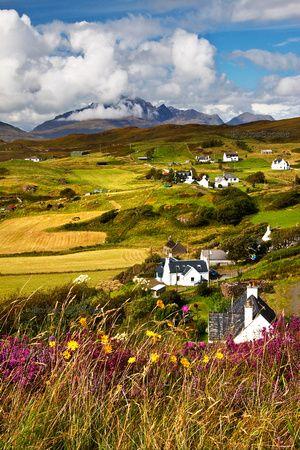 ༺❀ Tarskavaig, crofting village in late August, Isle of Skye. Scotland.