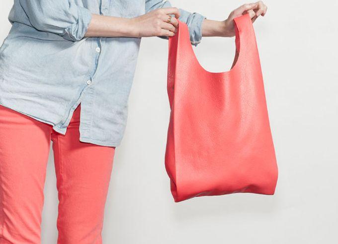 easy DIY leather bag.