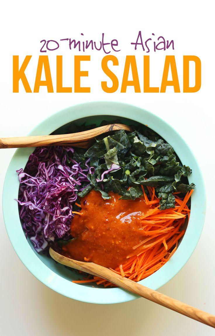 20-minute Asian Kale Salad | Recipe | Kale Salads, Kale and Salads