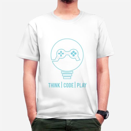 Think Code Play dari Tees.co.id oleh Toko GW