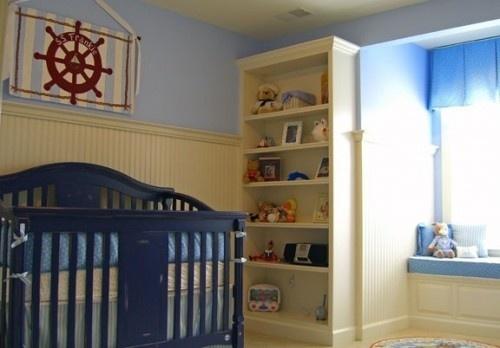 Nautical Theme Boy's Nursery by Jack and Jill Interiors